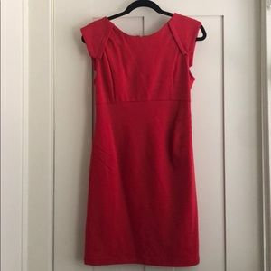 Red dress with black and silver zipper up back